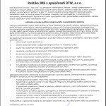Politika IMS (integrovaného manažérskeho systému)