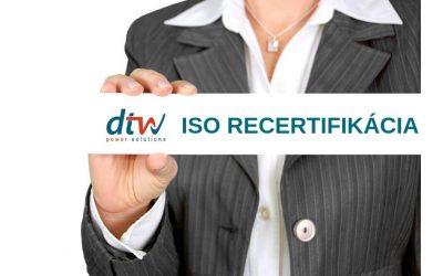 ISO recertifikácia potvrdila naše kvality