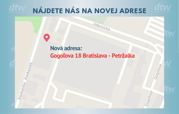 DTW - nová adresa